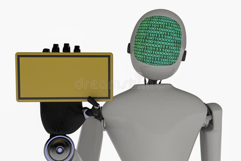 Un robot moderne illustration stock