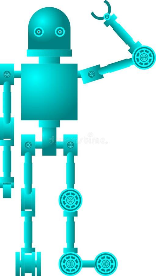 Un robot saluda ilustración del vector