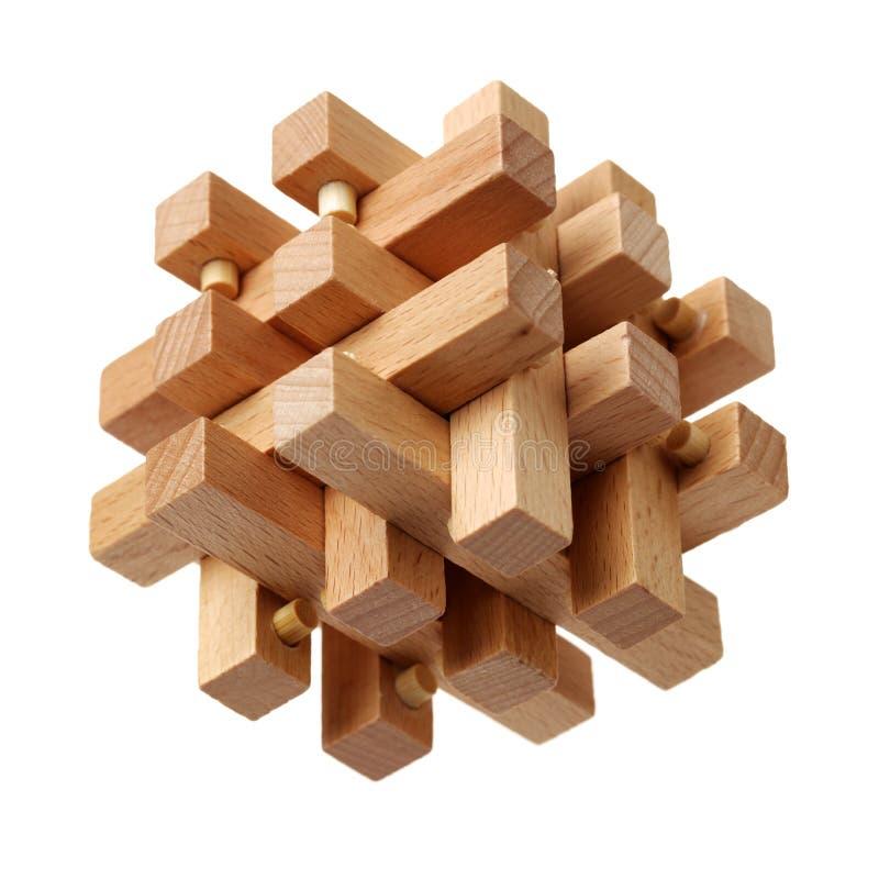 Un rompecabezas de madera complicado foto de archivo libre de regalías