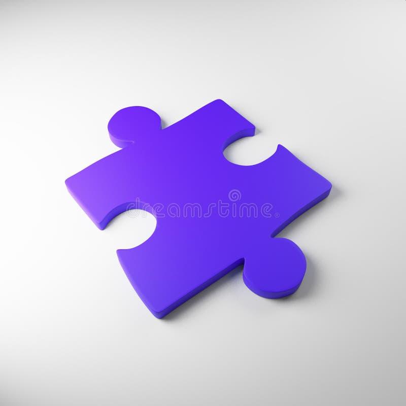 Un rompecabezas, púrpura, fondo blanco, color mate, stock de ilustración