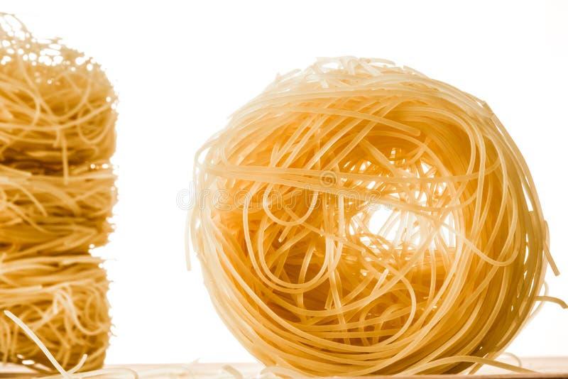 Un rotolo degli spaghetti dei capelli di angeli immagine stock libera da diritti