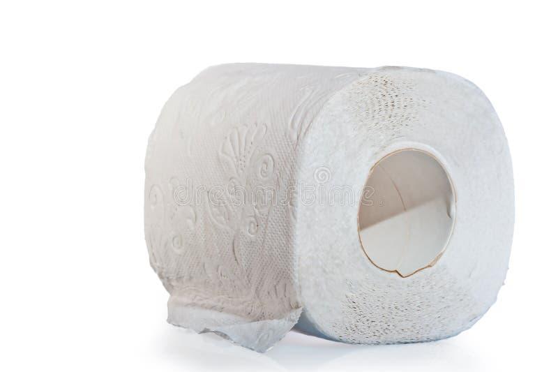 Un rotolo di tre strati della carta igienica immagini stock