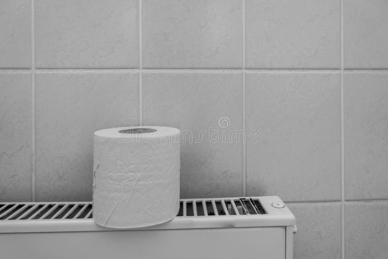 Un rouleau blanc de papier hygiénique photographie stock