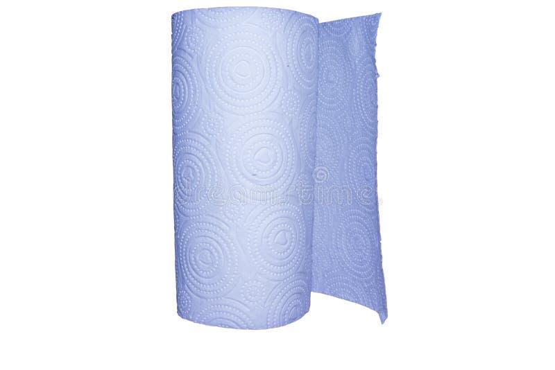 Un rouleau de papier hygi?nique d'isolement sur le fond blanc photo stock