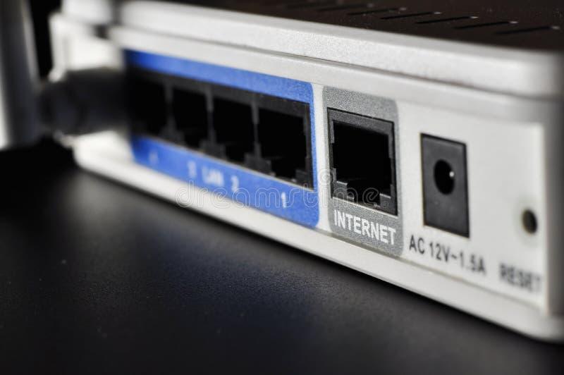 Un router senza fili bianco immagine stock