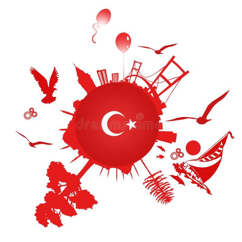 Un símbolo de Estambul stock de ilustración