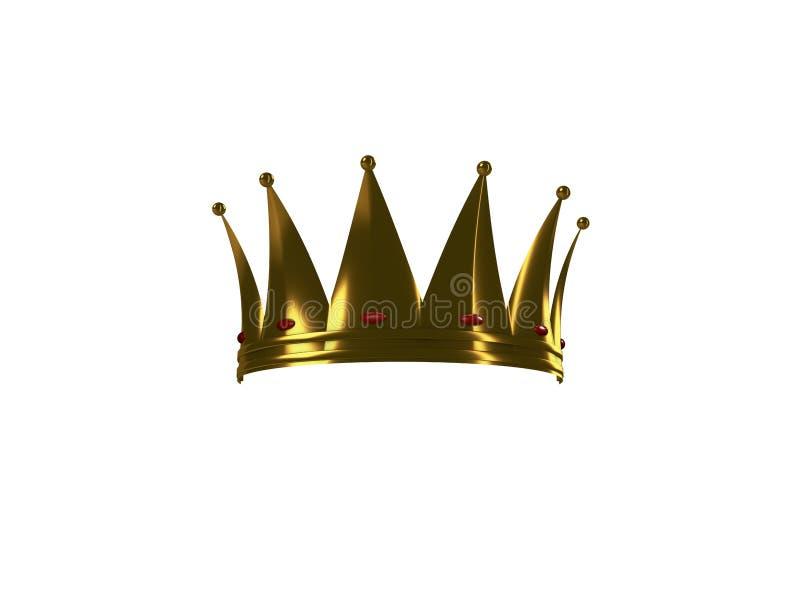 Un ` s di re o corona dell'oro delle regine mezza su un fondo bianco fotografie stock
