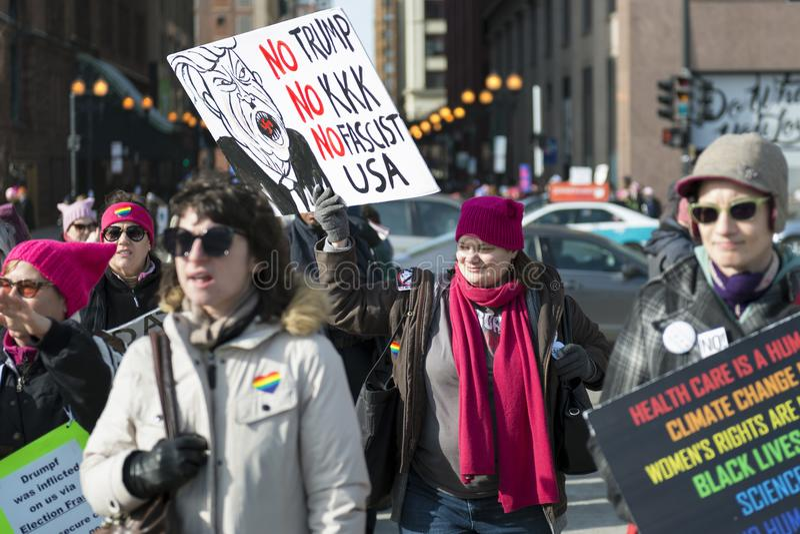 Un ` s marzo di 2018 donne in Chicago immagine stock