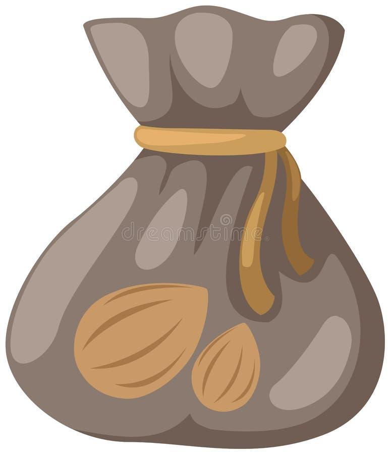 Un sac des graines illustration libre de droits