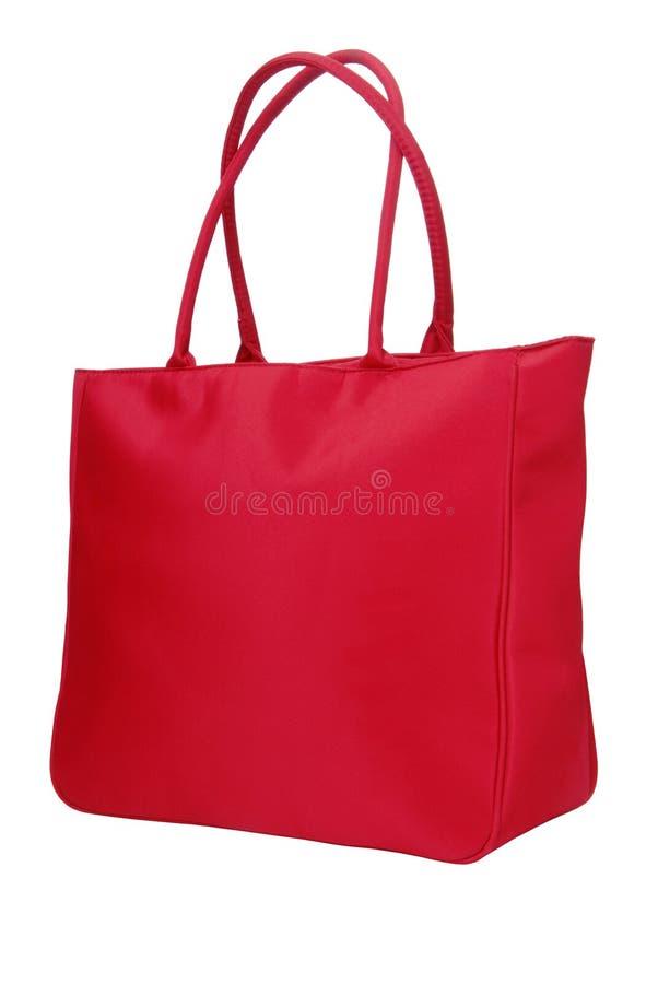 Un sac rouge de tissu images stock