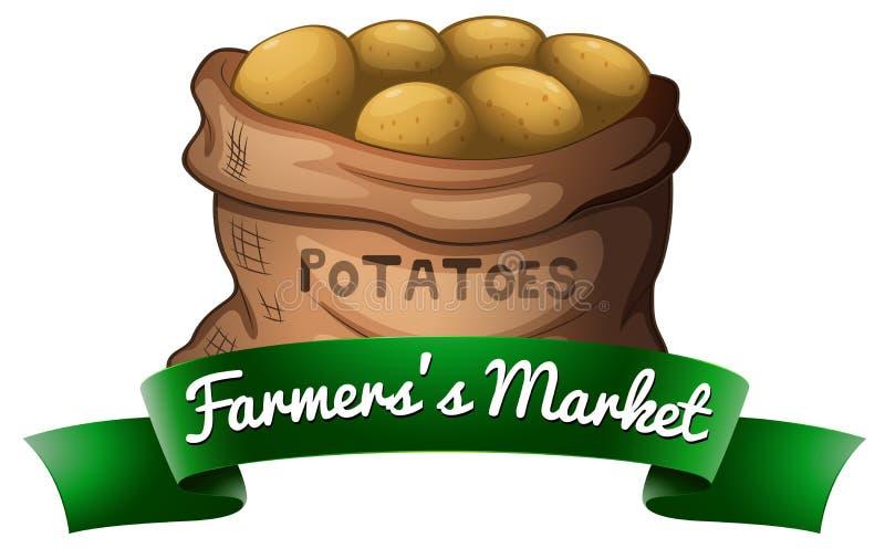 Un saco de patatas stock de ilustración
