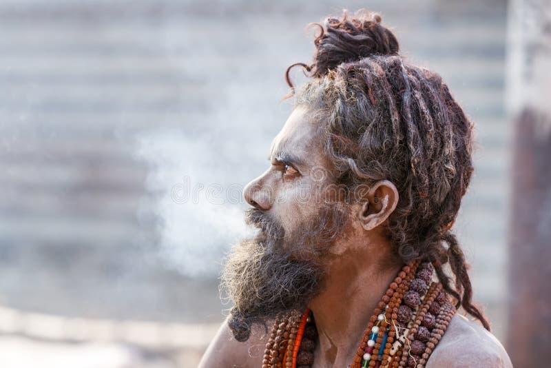 Download Un Sadhu Hindú Que Fuma Un Tubo De Hachís - La India Foto de archivo editorial - Imagen de gurú, asiático: 42428888