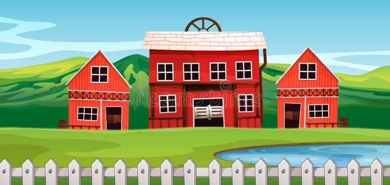 Un salón en el paisaje rural libre illustration