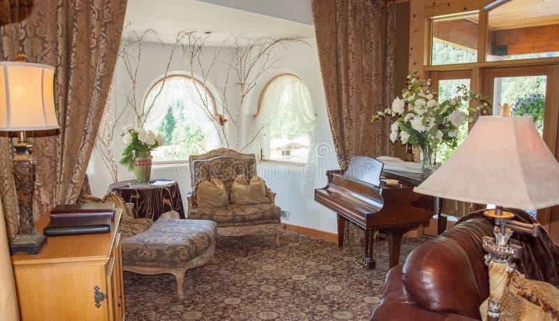 Un salón Niza adornado fotografía de archivo
