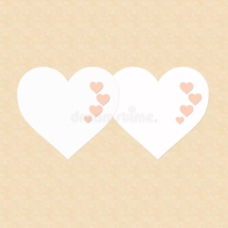 Un San Valentino felice di due cuori fotografie stock