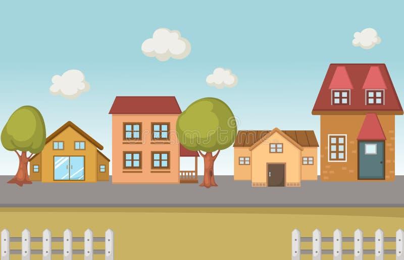 Download Un scape de la ciudad ilustración del vector. Ilustración de cielo - 42434312
