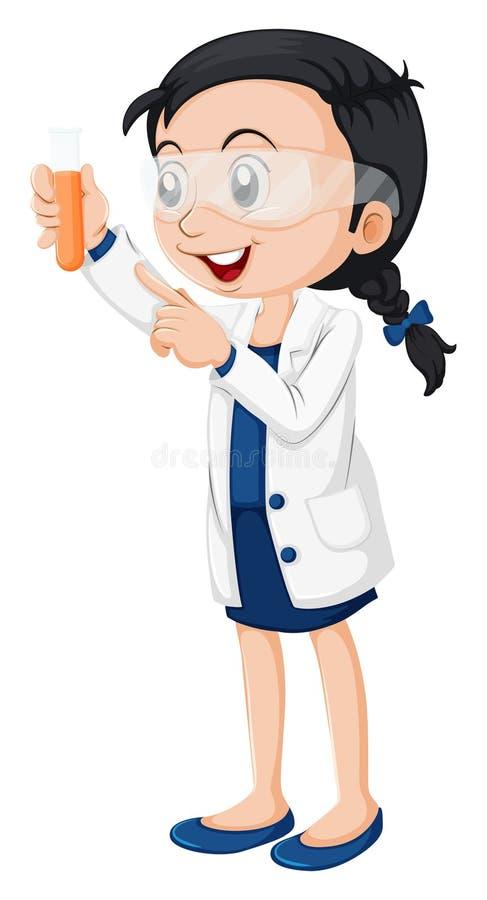 Un scientifique féminin illustration libre de droits
