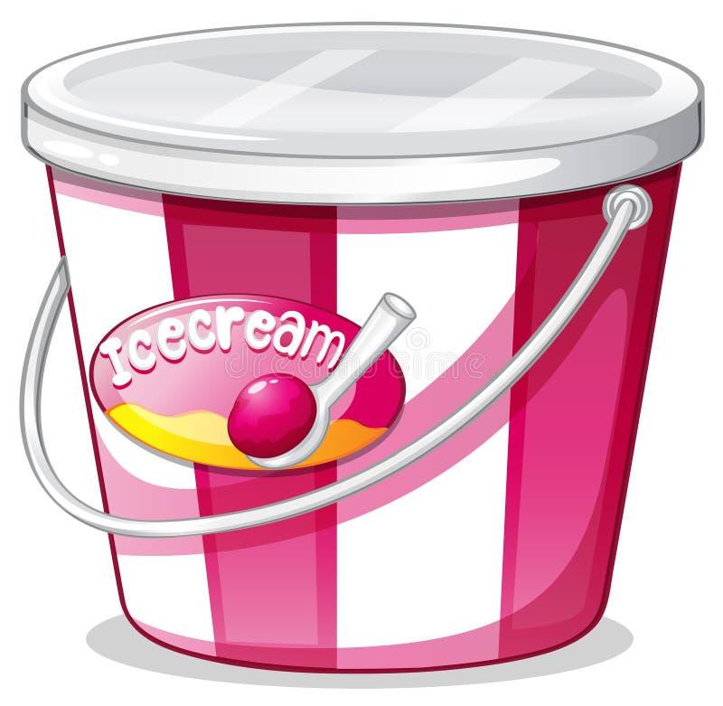 Un seau de crème glacée  illustration de vecteur
