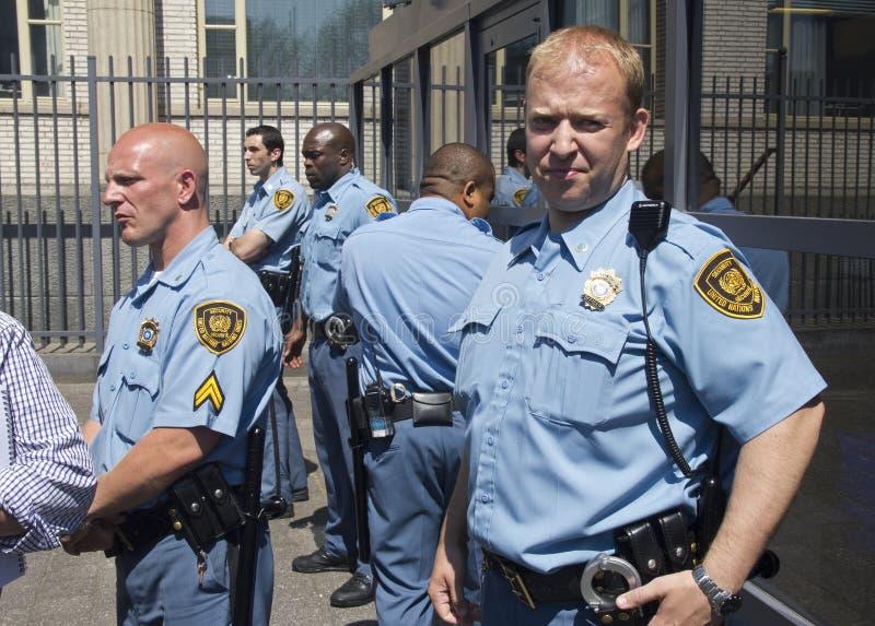 UN Security Guards stock images