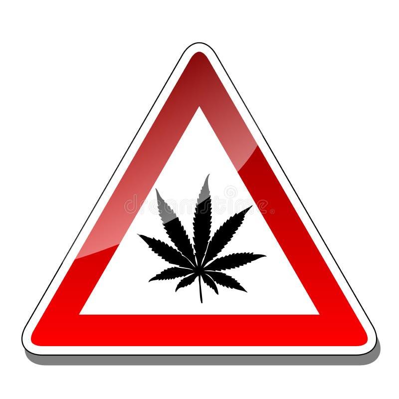 Un segnale di pericolo illustrazione vettoriale