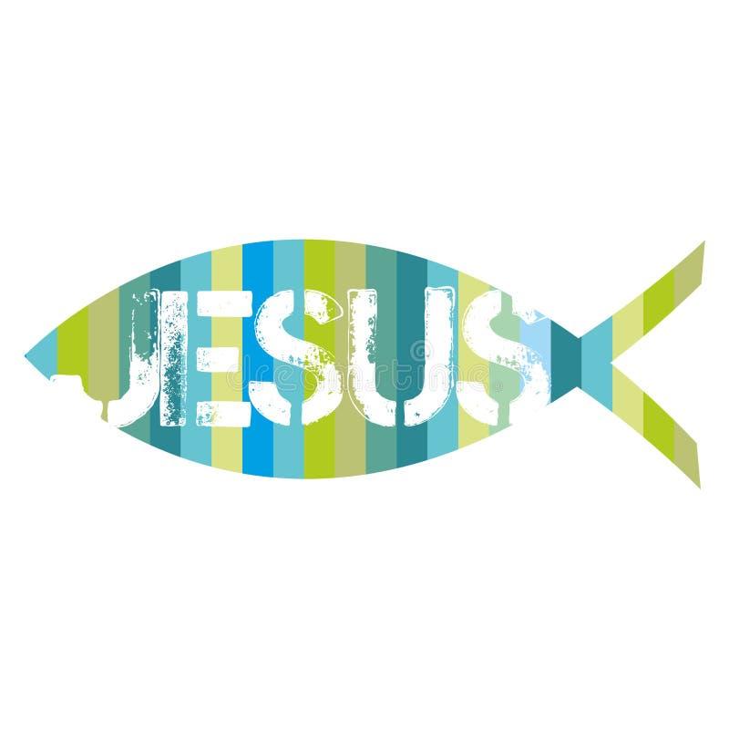 Un segno del pesce cristiano Illustrazione cristiana royalty illustrazione gratis