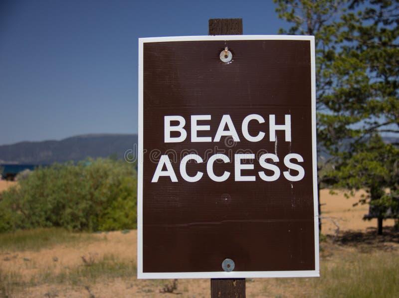 Un segno di Access della spiaggia fotografia stock libera da diritti