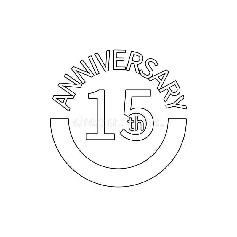 un segno di 15 anniversari Elemento dell'illustrazione di anniversario Icona premio di progettazione grafica di qualit? Segni ed  illustrazione vettoriale