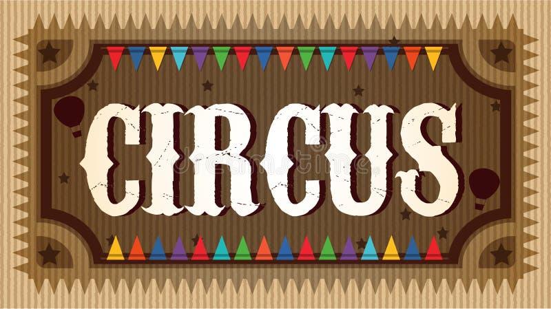 Un segno di legno operato del circo illustrazione vettoriale