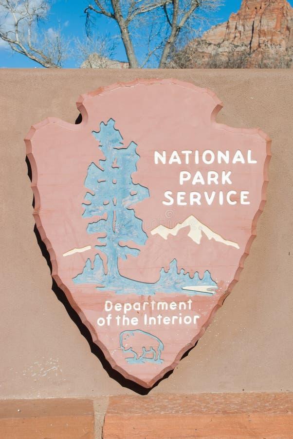 Segno di National Park Service immagine stock libera da diritti