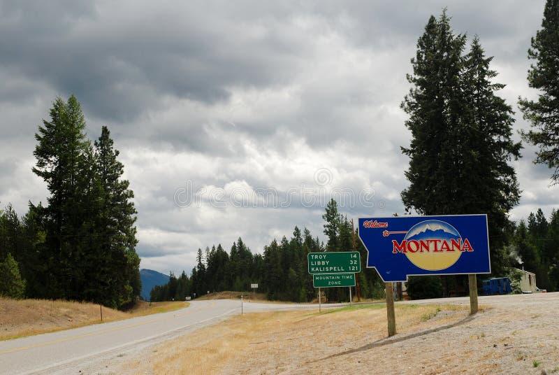 Benvenuto nel Montana fotografie stock