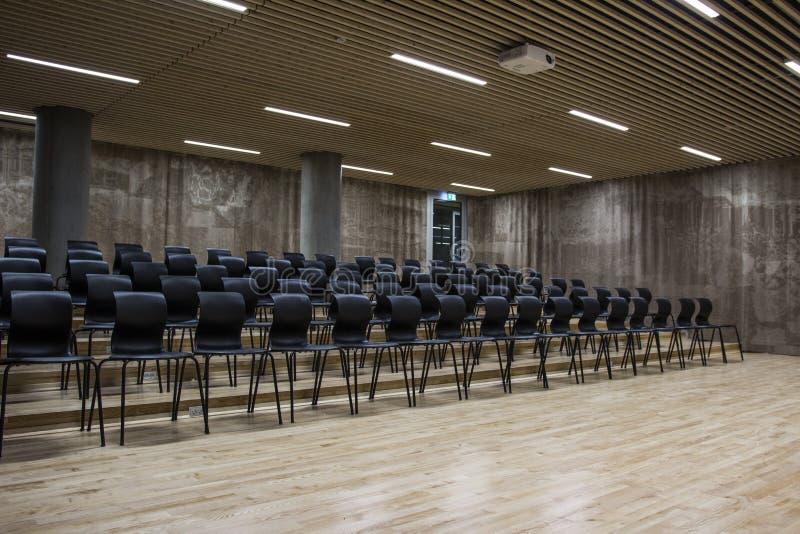Un seminario en una universidad en los Faroe Island imágenes de archivo libres de regalías