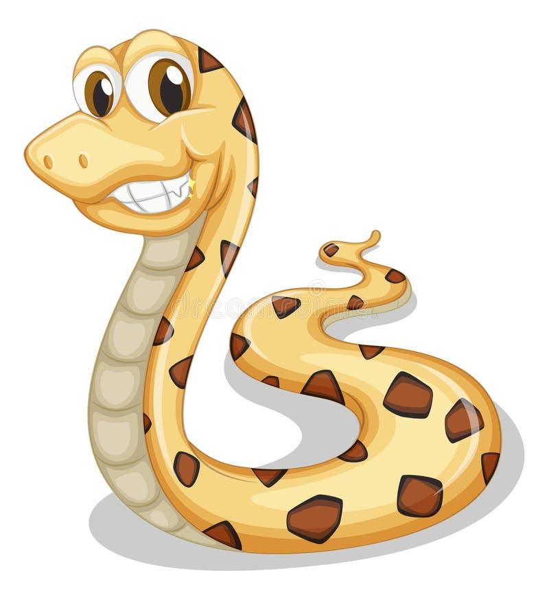 Un serpent de sourire illustration stock