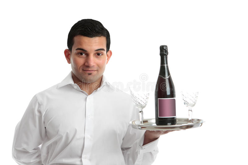 Un serveur ou un barman images libres de droits