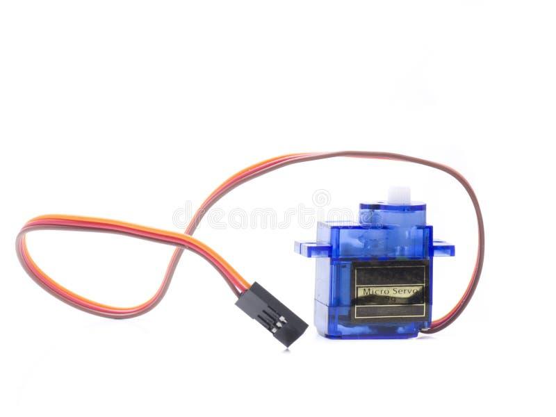 Un servo micro photographie stock
