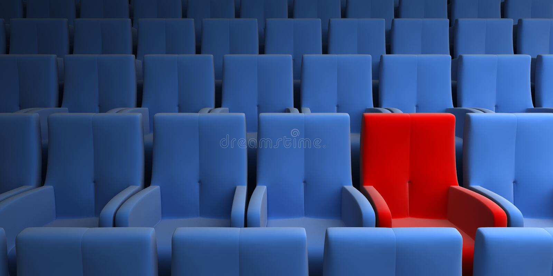Un siège exclusif image libre de droits