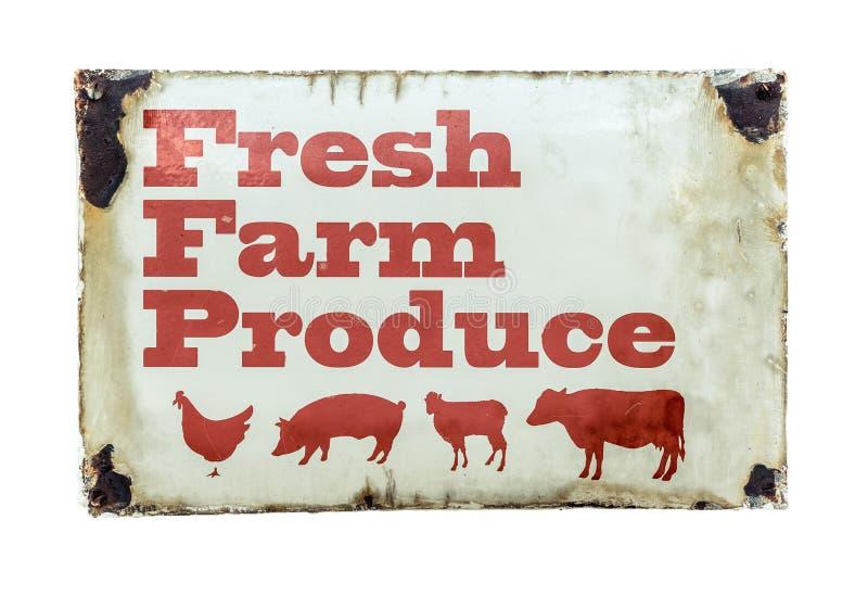 Un signe frais de produits agricoles photos stock