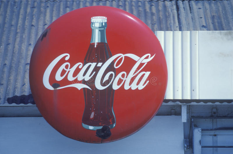 Un signe qui lit le ½ de ¿ de Cocos-Colaï de ½ de ¿ d'ï photographie stock