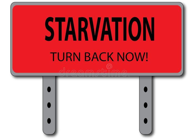 Concept De Signe De Famine Photo stock