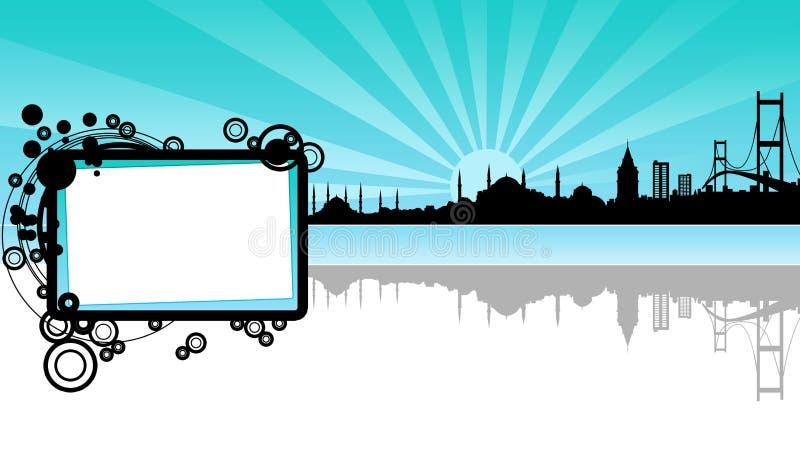Un silhoutte de Estambul ilustración del vector