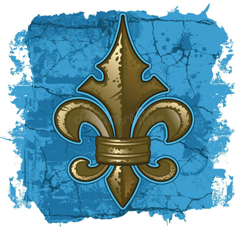 Download Fleur De Lys Grunge illustrazione vettoriale. Illustrazione di france - 29926538
