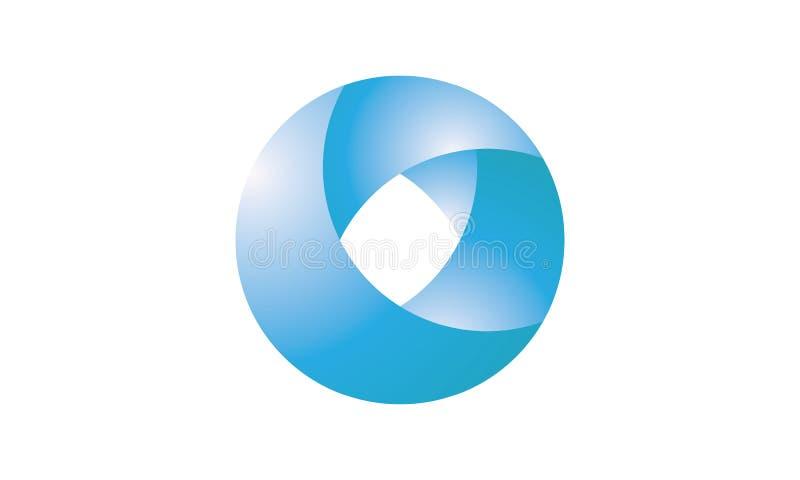 Un simbolo del cerchio nel colore blu per l'affare creativo royalty illustrazione gratis