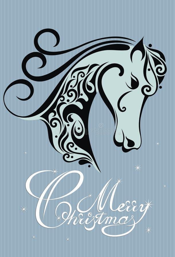 Un simbolo di 2014. Cavallo illustrazione di stock