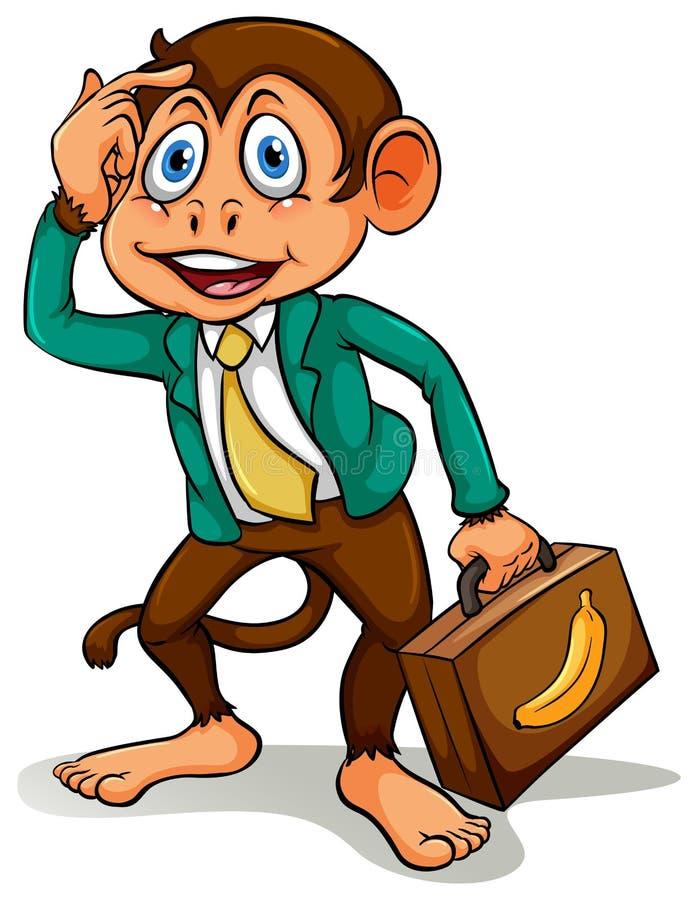 Un singe faisant des affaires illustration de vecteur
