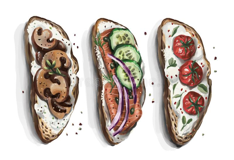 Un sistema de bocadillos a elegir de adaptarse todo el mundo gusto del ` s libre illustration