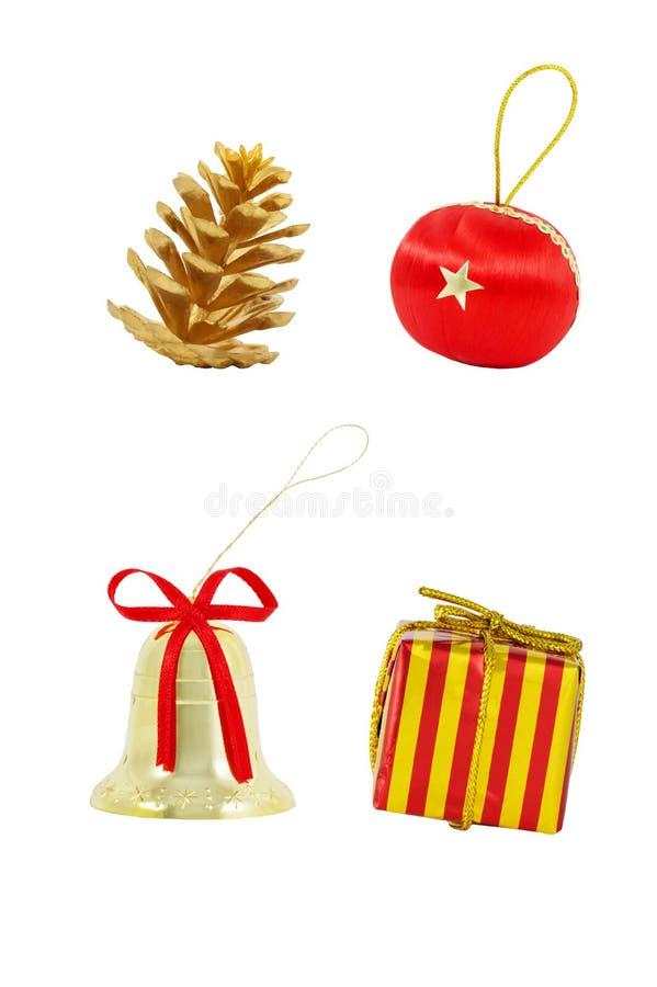 Un sistema de decoraciones de la Navidad imagen de archivo