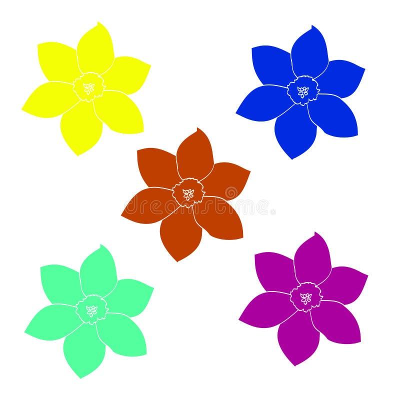 Un sistema de flores simples libre illustration