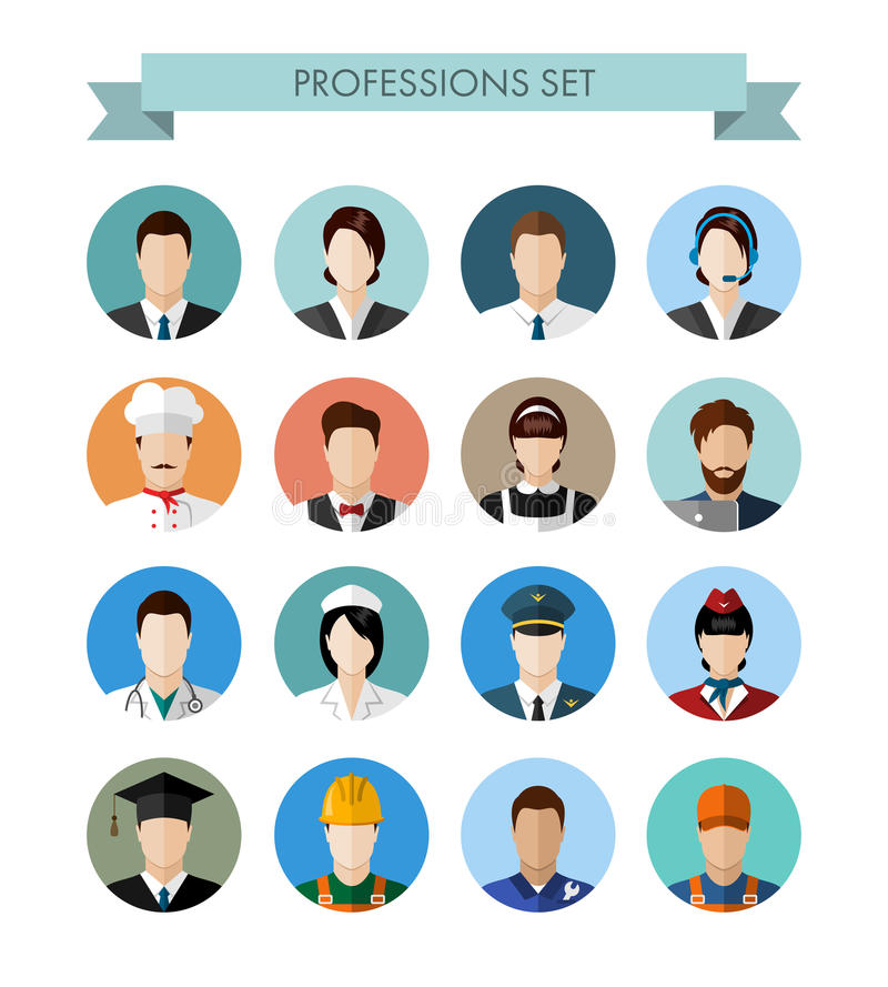 Un sistema de gente de las profesiones stock de ilustración