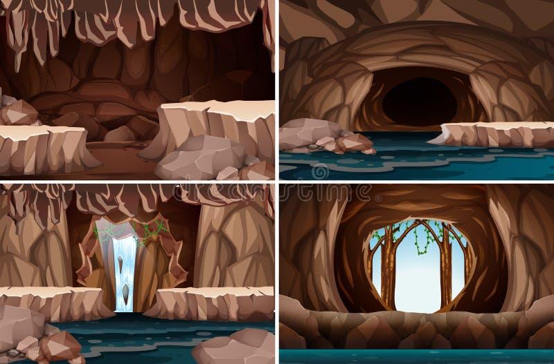 Un sistema de la cueva de la naturaleza libre illustration