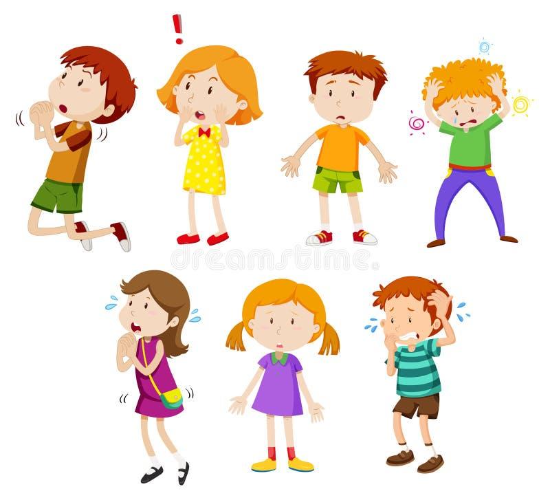 Un sistema de la expresión de los niños jovenes libre illustration