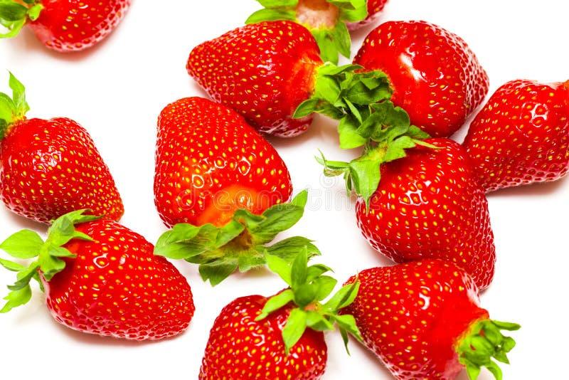 Un sistema de la fresa fresca aislado en el fondo blanco fotografía de archivo